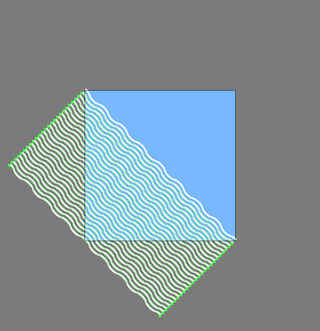 adding the bottom-left lines to the first pattern