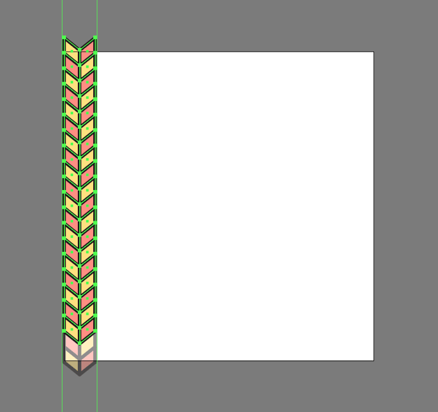 creating the first column for the second pattern