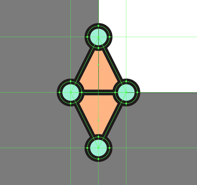 creating the smaller details for the third pattern