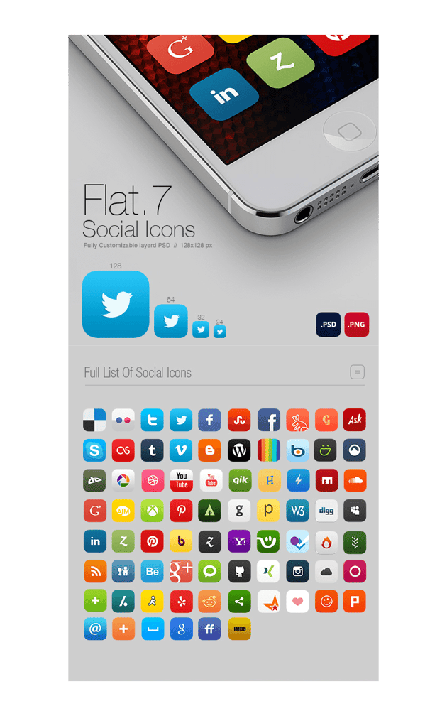 social icons example