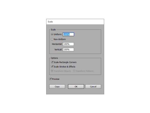 how to scale icons correctly in adobe illustrator