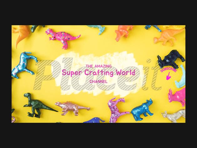 craft blogger banner template