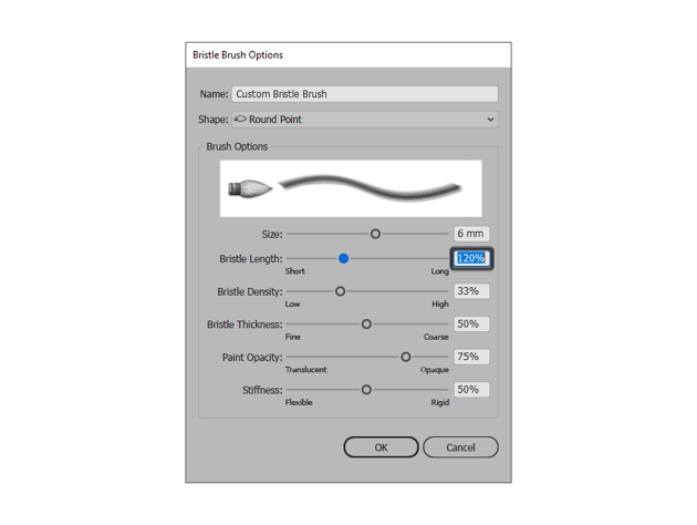 adjusting the length of the bristle brush
