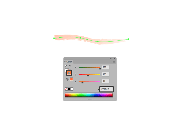 example of changing the color of one of the default watercolor brushes
