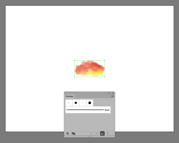 example of creating a new brush using the scanned image