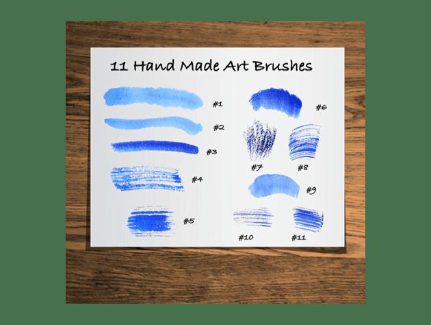 watercolor art brushes for illustrator