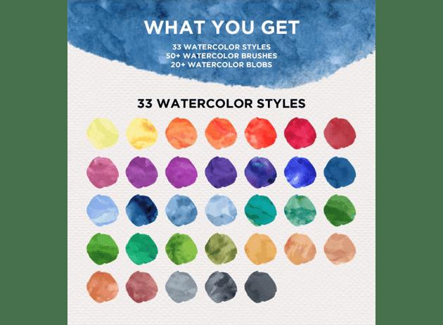 watercolor design kit