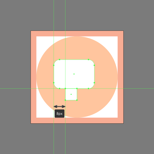 creating the smaller shape of the chat symbol