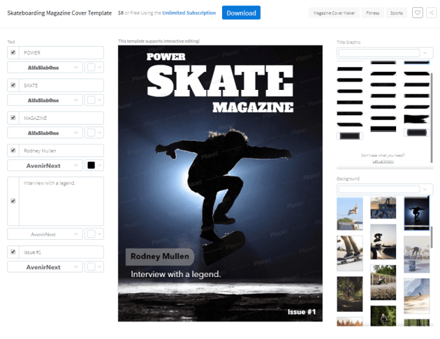 skate cover template preview