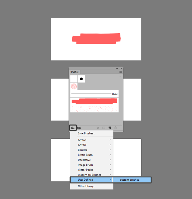 example of how to load the custom brushes