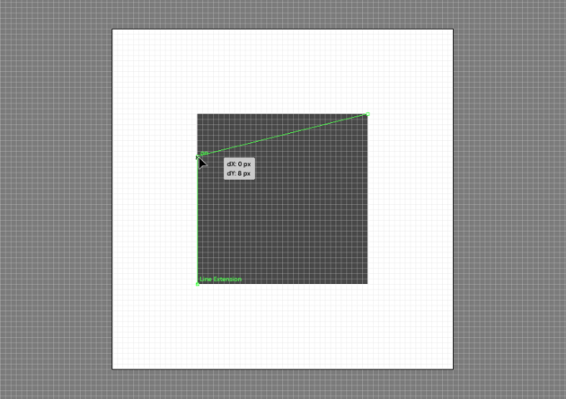 example of adjusting the position of an anchor using the click and drag method inside of pixel preview mode