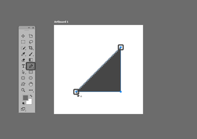 example of closing up a path using photoshop