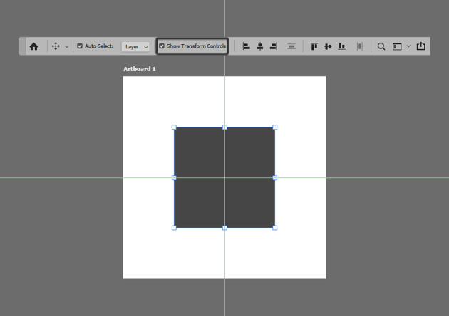 example of enabling the bounding box in photoshop