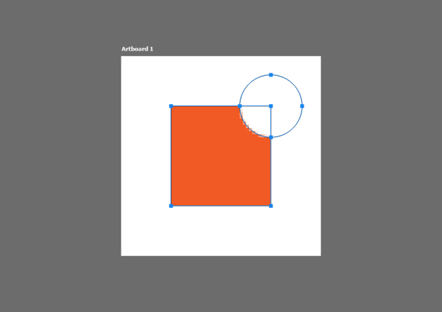 example of subtracting a shape in photoshop