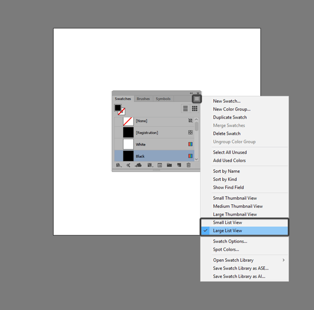 adjusting the size of the list view