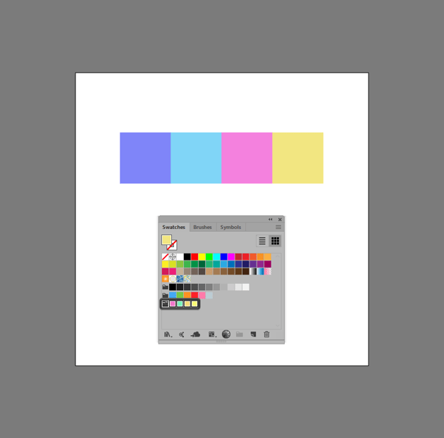 example of adjusted color group