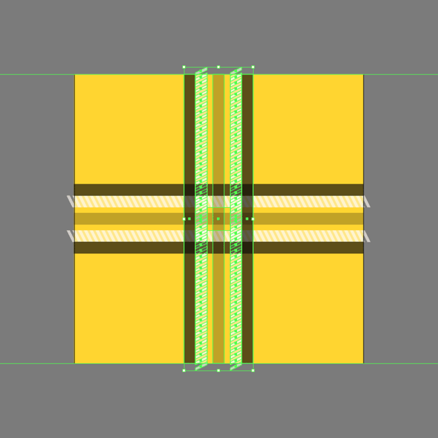 adding the vertical section of the pattern design
