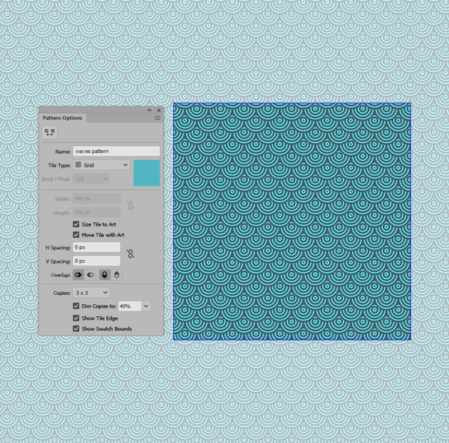 example of entering pattern editing mode