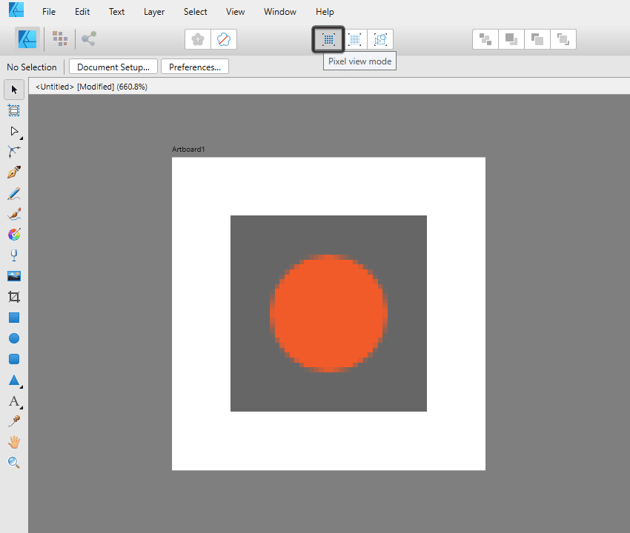 example of pixel preview in affinity designer