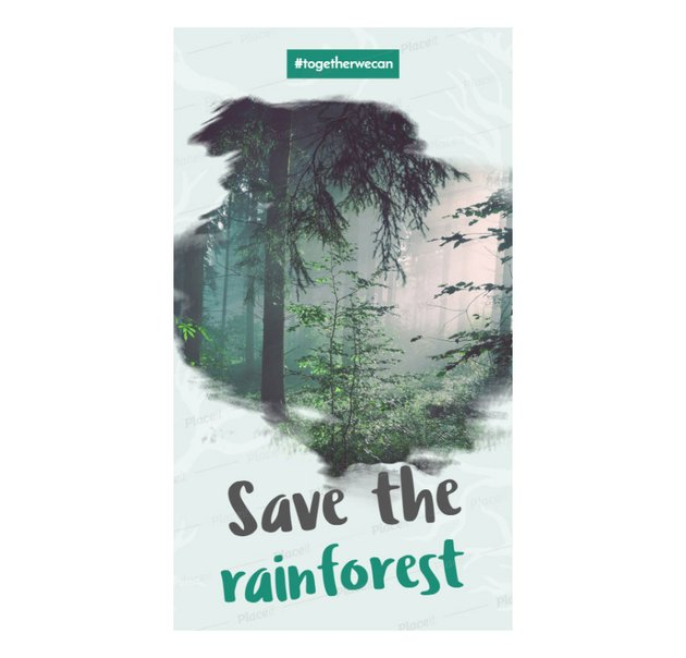 example of save the rainforest insta story template