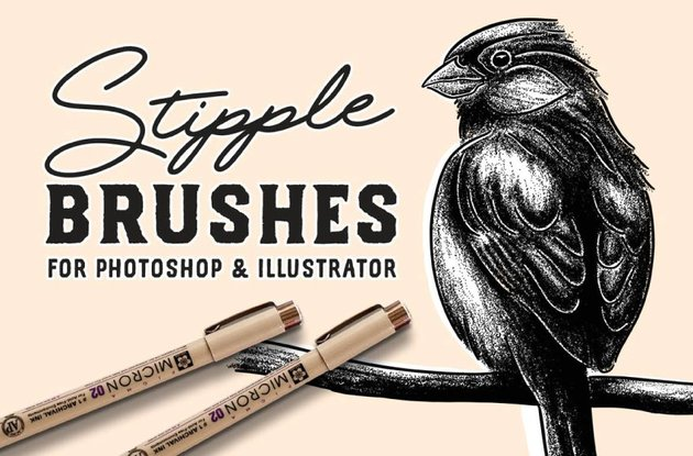 stipple brush set