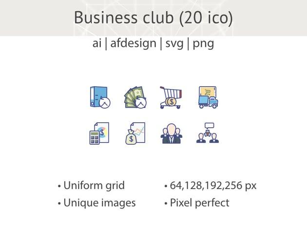 Business Club Icons