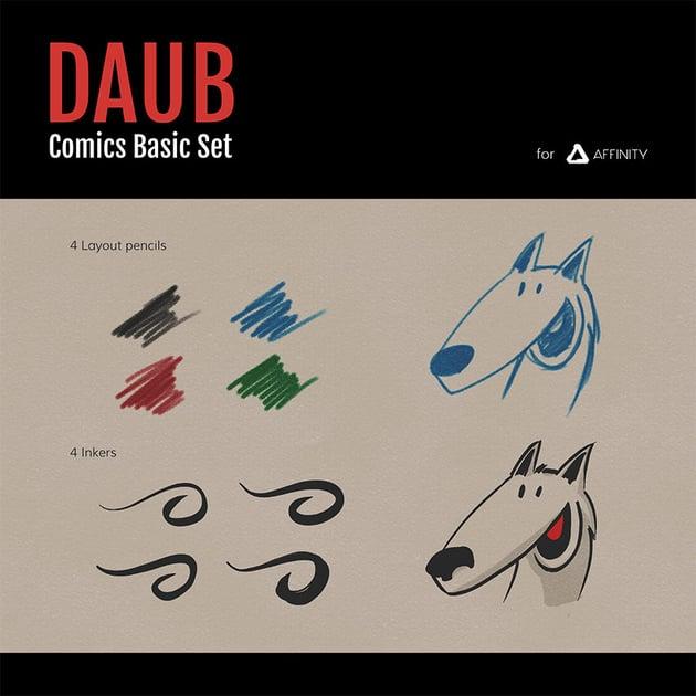 DAUB Comics Basic Brushes Free Assets