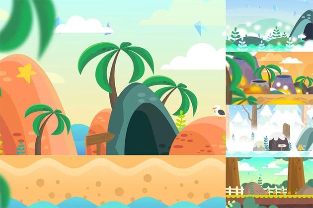 Side Scroller Game Background Designs
