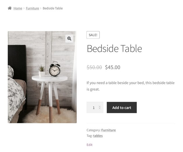woocommerce shop page