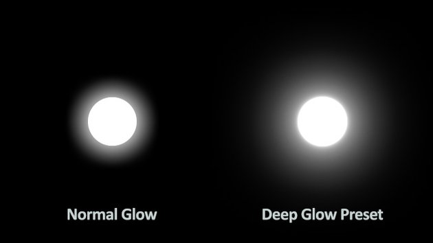 Normal and Deep Glow compared