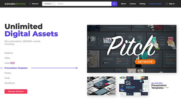 Envato Elements - Unlimited digital assets for one low price