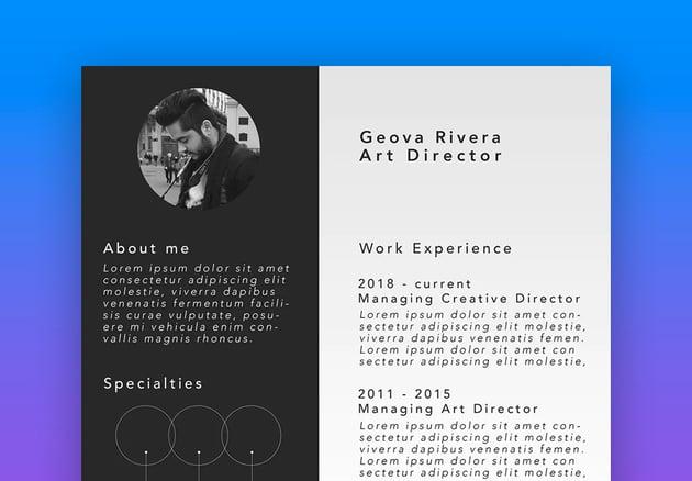 Bold Black  White Resume Template