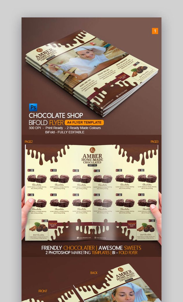 Chocolate Bi-Fold Brochure