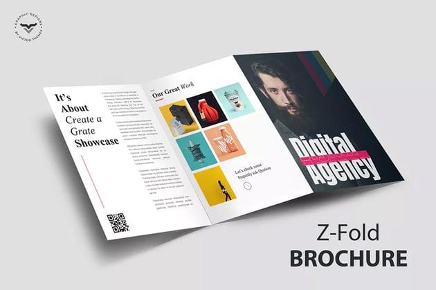 Z-Fold Portfolio Brochure Template