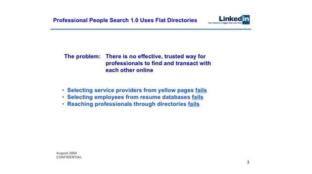 LinkedIn Stating the Problem