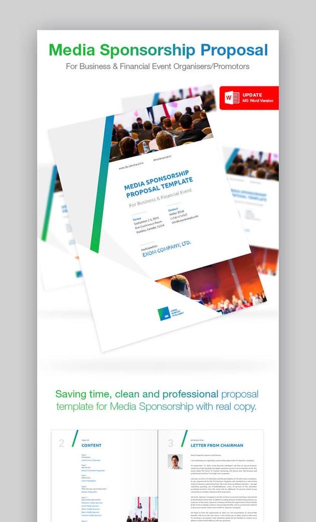 Clean Media Sponsorship Proposal Template