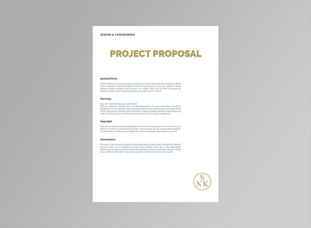 Project Proposal Contract  Invoice Template