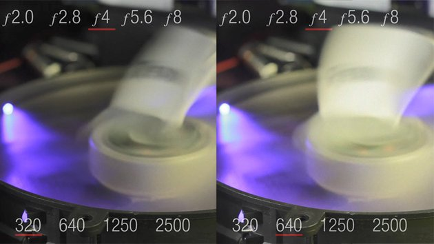 Change in ISO from 320 to 640