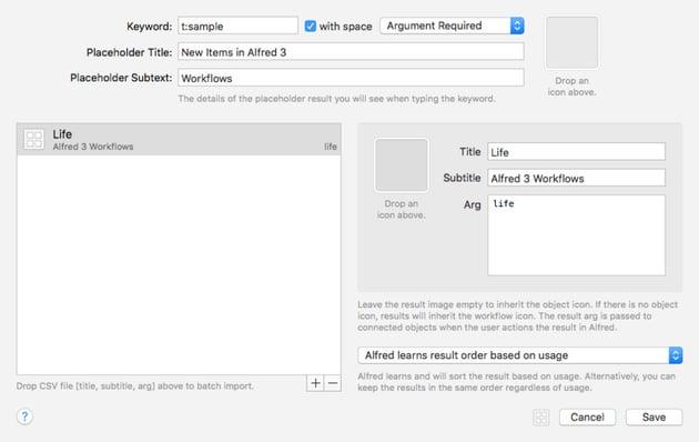 List Workflow Element