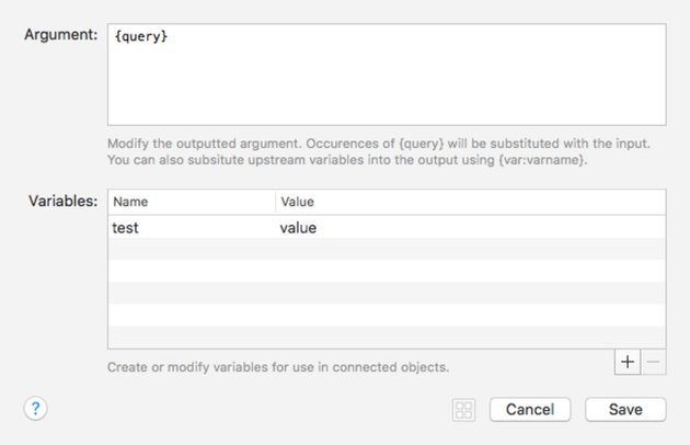 Args and Variables Workflow Element