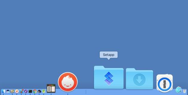 Setapp Folder in Dock
