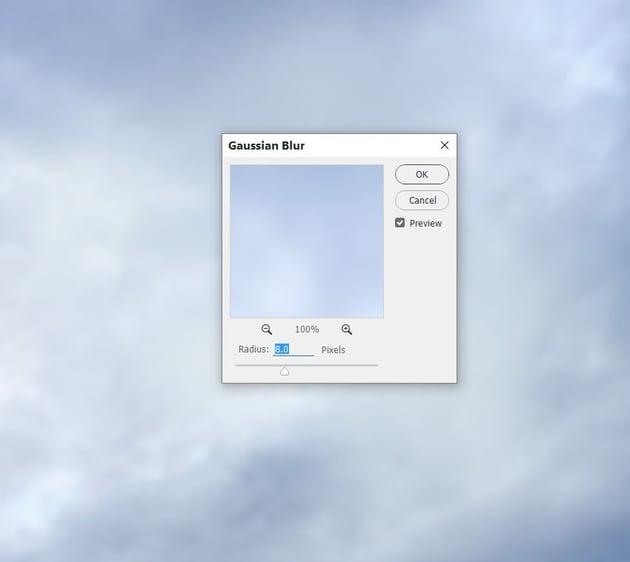 sky gaussian blur