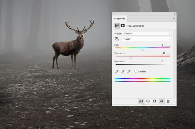 deer hue saturation
