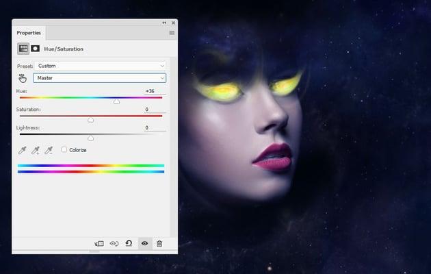 eyes hue saturation