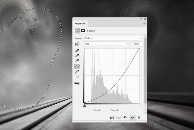 sky effect curves adjustment layer