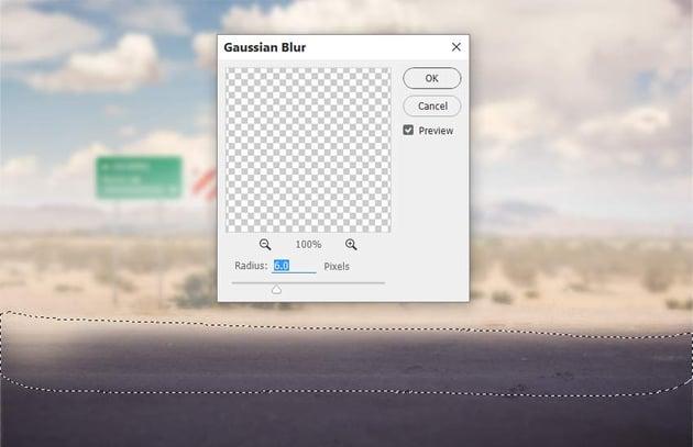 road gaussian blur