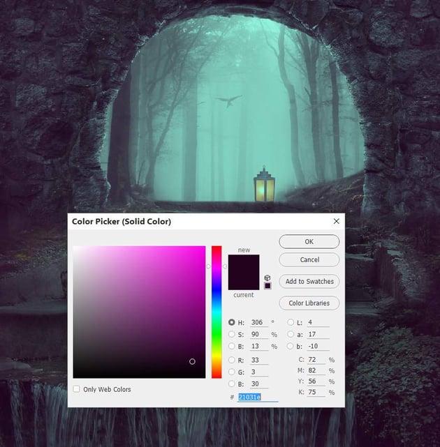 whole scene color fill