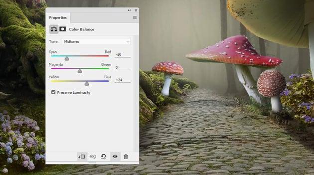 mushroom 5 color balance