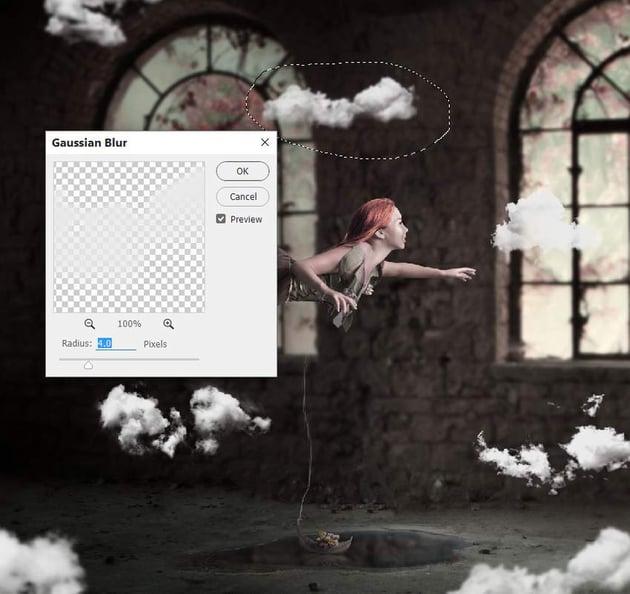 clouds gaussian blur 2
