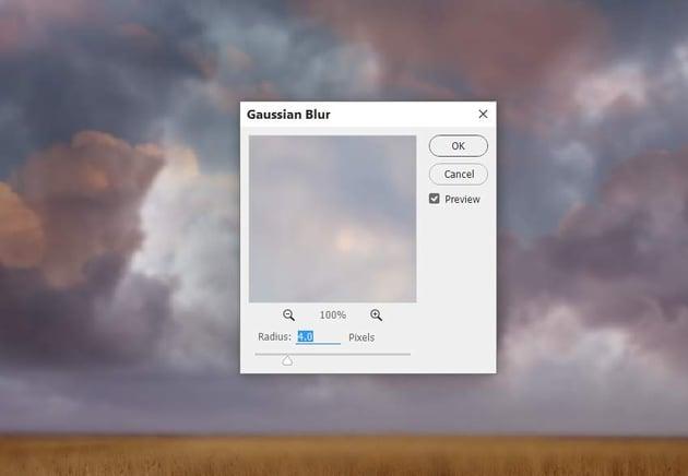 sky 2 gaussian blur